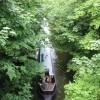 Narrowboat travelling north west along the Tring Summit cutting