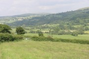 Arable ground, looking up the Loughor Valley