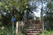 Steps to the Ashton Oundle footbridge