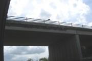 Surveillance cameras on bridge of A6071 over M74/M6 at Gretna