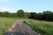 Rubble trackway through farmland