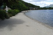 The beach at Luss
