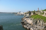 Plymouth waterfront looking towards the Hoe and Millbay