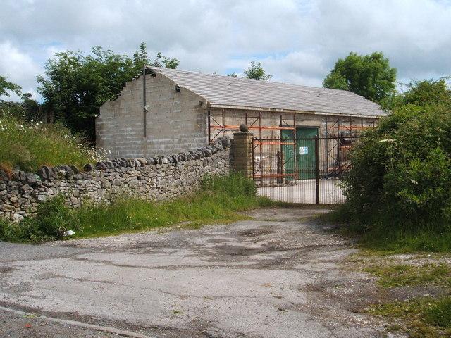 Unfinished building above Cressbrook