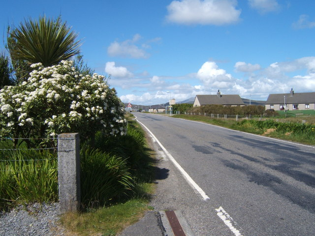 Looking North up the B888