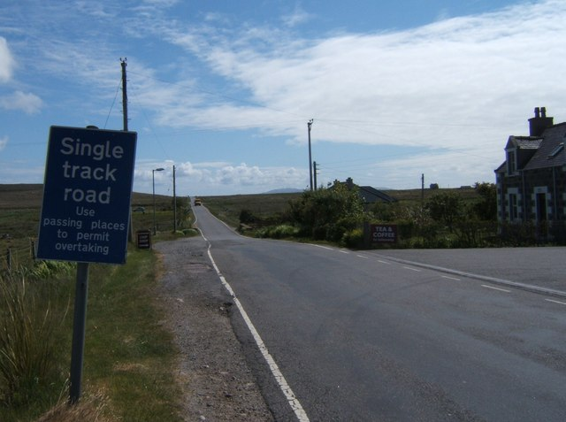 The B888 south from Burnside