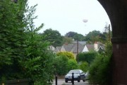 Branksome: balloon view through Coy Pond Road arch