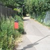 Mid section of the path at the northern end of  Bury Close
