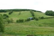 Farmland below Banc y Dolau
