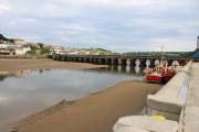 Bideford Long Bridge at low tide