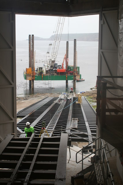 The new lifeboat launching slipway
