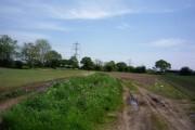 Pylons near Thornton