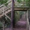 Private bridge over footpath