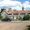 Attractive flint cottages in Langley Green