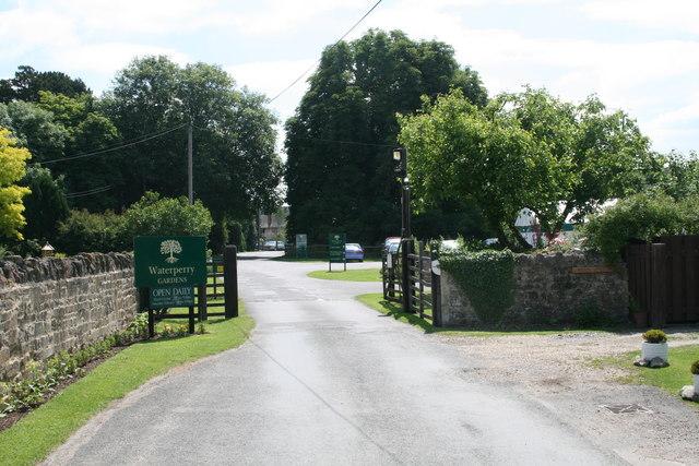 Entrance to Waterperry gardens and garden centre