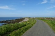 Road alongside Bay of Sandquoy