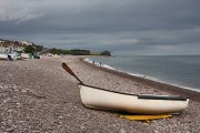 Boat on Budleigh Salterton beach