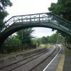 Pedestrian bridge at Stanhope railway station