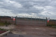 Gated entrance to the Orgreave regeneration area