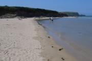 The beach, looking towards Gun Point