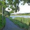 Cycle path beside the River Usk