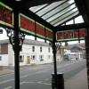 Delightful stained glass canopy at the Royal Arms in Stoke Road