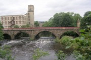 Cleggford Bridge over the River Calder - viewed from Savile Road