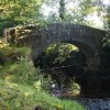 Bridge over brook, tributary of the River Derwent, near Chatsworth