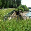 Culverted beck alongside Castle Carrock Reservoir