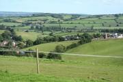 Bradninch: overlooking the Culm valley