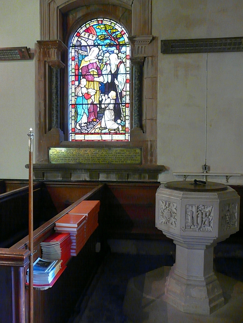 Font and window, St. Peter's Church