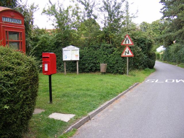 Postbox Post Office & The Street, Darsham