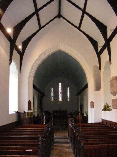 The Inside of All Saints. Darsham