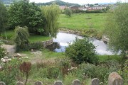 The River Onny as seen from Halford Churchyard