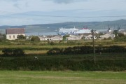 Llaingoch - and a departing Stena Ferry  - from Twr