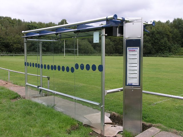 Viewing stand - or bus stop shelter?