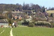 Hamstreet Village viewed from the west