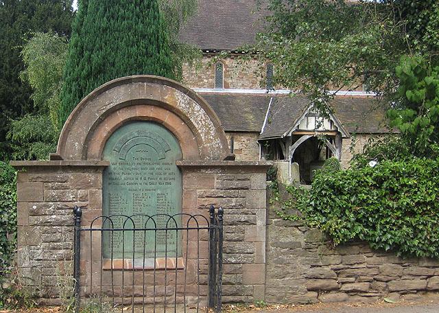 Bronze war memorial, Bosbury