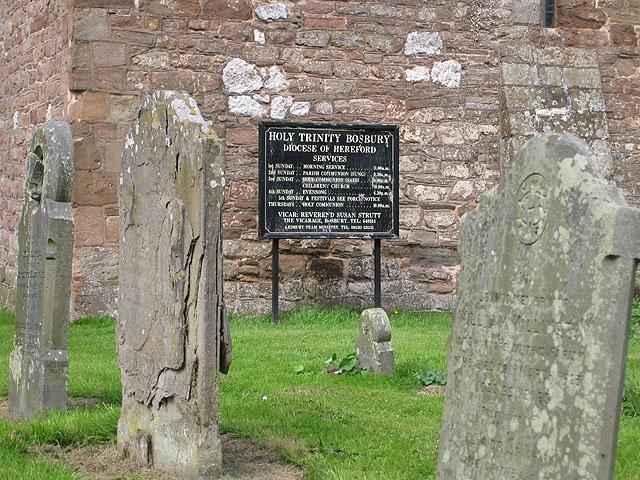 Crumbling gravestones