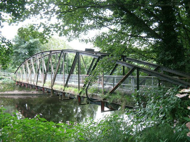 Footbridge over River Tawe at Clydach