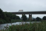 The M5 bridge crossing the Exeter Canal