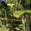 Footpath reaches bridleway on county border
