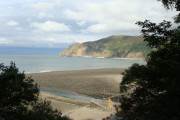 Blacklands Beach and Foreland Point from the footpath to Lynton