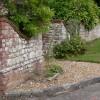 Pretty garden wall on the Village Green at Fernhurst