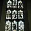 Stained glass window above the altar at St Peter and St Paul, Steeple Aston