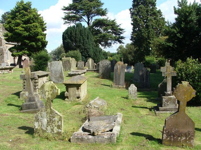 Churchyard, St Mary the Virgin's church, Caldicot