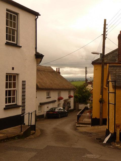 Winkleigh: looking down Vine Street