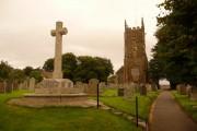 Winkleigh: parish church of All Saints and war memorial