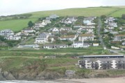 Bigbury-on-Sea: village viewed from Burgh Island