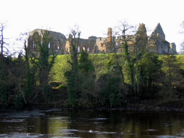 Egglestone Abbey from the River Tees
